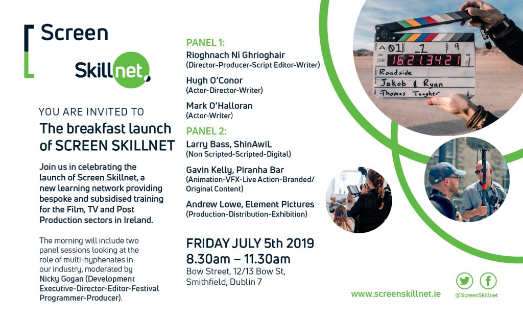 REGISTRATION: 05 07 19 / Screen Skillnet Launch - Screen